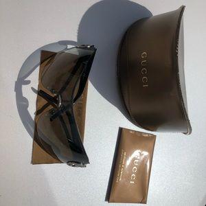Authentic Gucci GG 2890/S Gun Metal Black Glasses